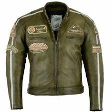 Veste vintage en cuir de moto Cafe Racer, veste en cuir pour hommes, cuir vérita