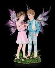 Elfen Figur - Junge und Mädchen - Schau, ein Schmetterling - Fantasy Feenkinder
