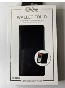 ✅Case-Mate Wallet Folio Case Cover for the Galaxy Note 9 Genuine Black Leather