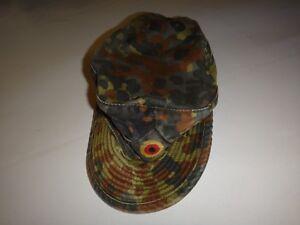 Allemand Camouflage Armée Casquette Chapeau Avec Label Albert Kempf Gmbh 1996