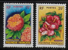 FRENCH POLINESIA   1962   Flowers   MNH-VF  #  Mich. 20-1