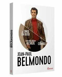 BELMONDO:Un singe en hiver+Cent mille dollars au soleil+Le Cerveau- COFFRET NEUF