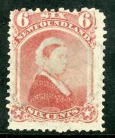Canada 1894 Newfoundland 6¢ QV Carmine Lake Scott #36 VFU D410
