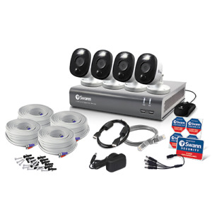 Swann DVR4 4580 4 Channel 1TB DVR 4x 1080MSFB HD Motion Sensing Cameras CCTV Kit