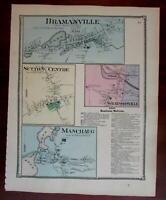 Bramanville Sutton Centre Manchaug 1870 Worcester Co. Mass. detailed map