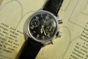 Hanhart fleiger chronograph. Montre ancienne luftwaffe.