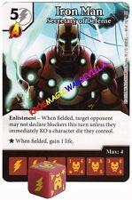 044 IRON MAN: Secretary of Defense -Common- CIVIL WAR Marvel Dice Masters