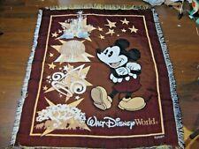 Mickey Mouse Disney Tapestry Woven Throw Blanket Walt Disney World Magic Epcot