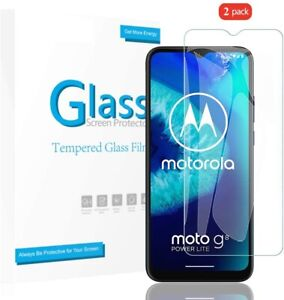 2Pack For Motorola Moto G8 Plus Tempered Glass Screen Protector Invisible SHIELD