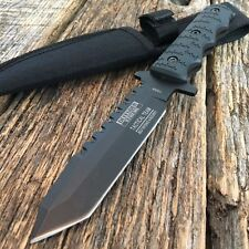 "9"" Full Tang Tactical Hunting Survival Knife w/ Sheath Military Bowie Combat -W"