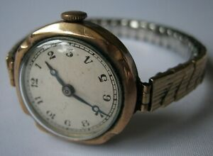 A Fine Vintage 9ct Gold Cased Ladies Watch, Working but Movement Needs Cleaning.