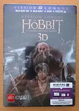 HOBBIT, La Bataille des cinq armées Version longue Steelbook Blu-ray 3D+DVD NEUF