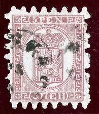 Finland 1873 Serpentine Definitive 5 Pen Purple Scott #6VFU V337