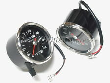 Triumph Smiths Type Black Face Speedo / Tach Set 60-1930 & 90-0166 TR6 T120