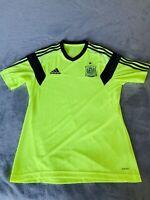 Adidas Spain National Team Soccer Futbol Training Jersey For Men's Medium