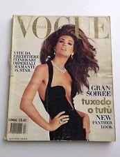 Vogue Italia - December 1991 - Gran Soiree w/ Naomi Campbell, Claudia Schiffer