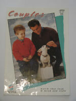 "Knitting Pattern Sirdar DK Men's Child's Sweater with button neck 28-42"" 8700"