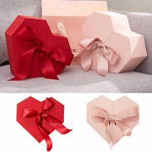 Heart Shaped Gift Box Creative Present Case Flower Candy Box Valentine's Wedding