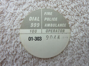 GPO BT P.O Original Used Telephone Dial Label 706 746 8746 Old phone Part