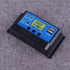 30A Solar Panel Controller Battery Charge LCD Regulator 12V/24V Auto Dual USB