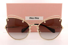 Authentic MIU MIU 56rs - Zvn0a7 Sunglasses Pale Gold / Grey Gradient 61mm