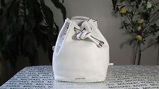 NWT Michael Kors Leather Dalla Large Backpack Purse Optic White