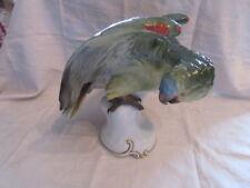 Rosenthal seltener grüner Papagei Entwurf T. Kärner Modell 210 d