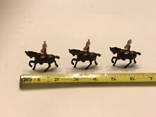 Vintage England Lead Soldiers On Horse Back - Lot of 3