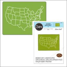 Sizzix embossing folders - United States embossing folder 660339 travel,map