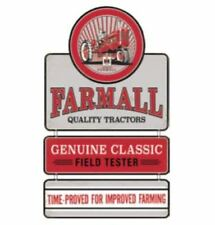 Farmall Linked Die-cut Embossed Tin Sign