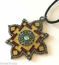 Briar Dharma Étain Symbolique Pendentif Charm, Mandala, Enlightenment