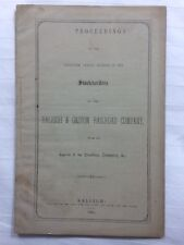 RARE 1865 Raleigh & Gaston Railroad Company, North Carolina pamphlet, report 1st