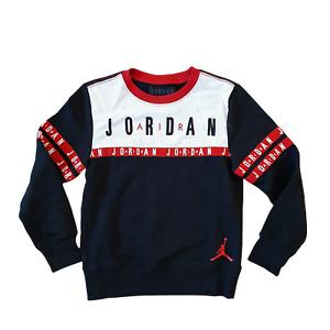 Nike Air Jordan Big Boys (Black/White) Sweatshirt Size Small