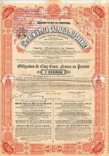 BRAZIL SAO PAULO & RIO GRANDE RAILWAY COMPANY BOND  stock certificate 1908
