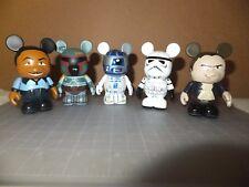 Lot of 5 Disney Vinylmation Star Wars Boba Fett, Storm Trooper, R2-D2