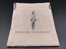 David Yurman Sterling Silver Dagger Amulet With Black Diamonds NWOT $675