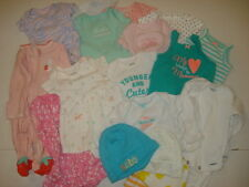 Lot of 20 Pieces Carter's Baby Girl Newborn Clothes and Hat -Excellent Condition