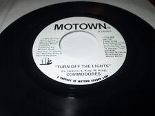 "COMMODORES TURN OFF THE LIGHTS 45 7"" NM NEAR MINT US MOTOWN VINYL PROMO LISTEN"