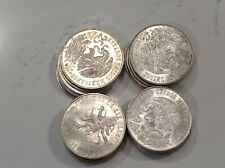 1968 SILVER MEXICAN 25 PESOS COINS, LOT OF 20 FULL ROLL TUBE