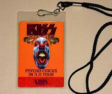 KISS Psycho Circus 3D Tour VIP Backstage Pass 1998 USA mit Band