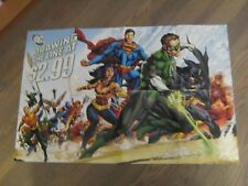 Promo Poster - DC Drawing The Line 2011 - DC - Batman Superman Flash Lantern  ZZ