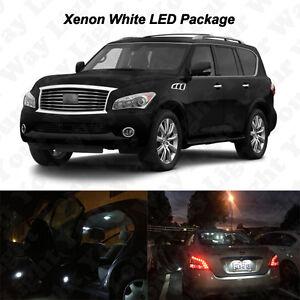 15 x White LED Interior Bulbs Reverse Tag Light For 2005-2018 Infiniti QX56 QX80