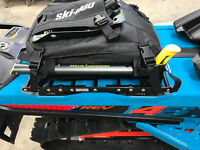 Ski-Doo LinQ 146+ Snowmobile Rack Luggage Cargo Rack, Slim Tunnel Bag Rack