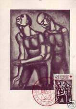 1324  FDC CARTE 1er JOUR  CROIX ROUGE  1961