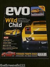 EVO MAGAZINE # 54 - AUDI TT 3.2 Q - BMW 330cd - MERCEDES SL 600 - APRIL 2003
