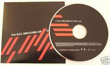 U2 'All Because of You' Mexico 1-Track Promo CD Single In Custom Title Sleeve