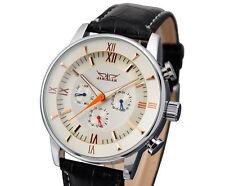 JARAGAR DELUXE Herrenuhr, NEU mechanisch,automatisch Leder Armband Uhr
