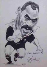 JOE STANLEY RUGBY NZ ALL BLACK SIGNED PRINT WITH COA