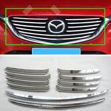 1 Set 10pcs Chrome Grille Molding Stripe Trim For Mazda 6 2016 2017
