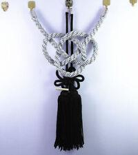 New Vip Charm Junction Produce JDM Fusa Black Kiku JP Knot Silver Kin Tsuna Rope